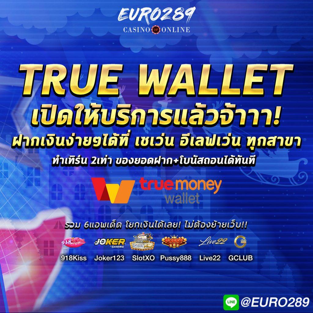 สล็อต ฝากถอนผ่านทาง True Wallet ได้แล้ววันนี้ที่ Euro289.com